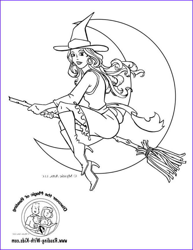 halloween witch halloween coloring