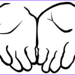 Hand Coloring Beautiful Photos Drawing Cupped Hands Coloring Pages