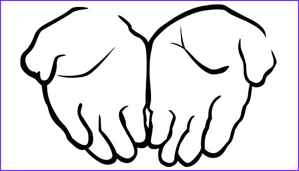drawing cupped hands coloring pages
