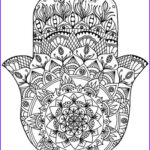 Hand Coloring Best Of Collection Sarah Ganaway Hamsa Coloring Page Art