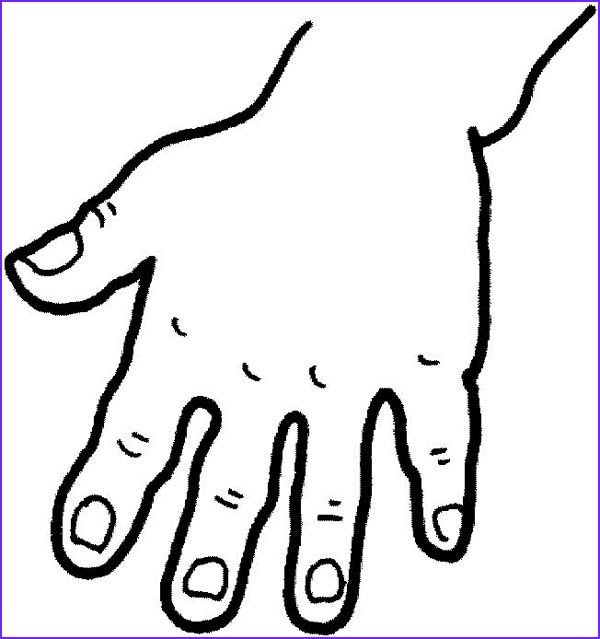 five fingered hand coloring page