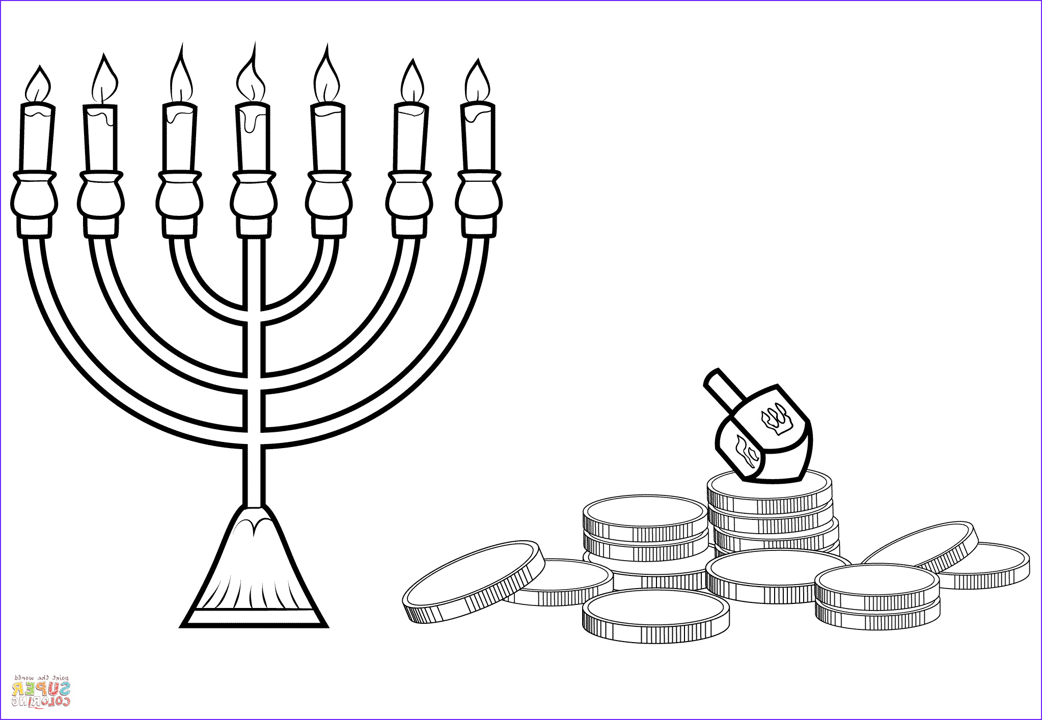 Hanukkah Coloring Pages Unique Photos the Best Free Menorah Drawing Images Download From 118