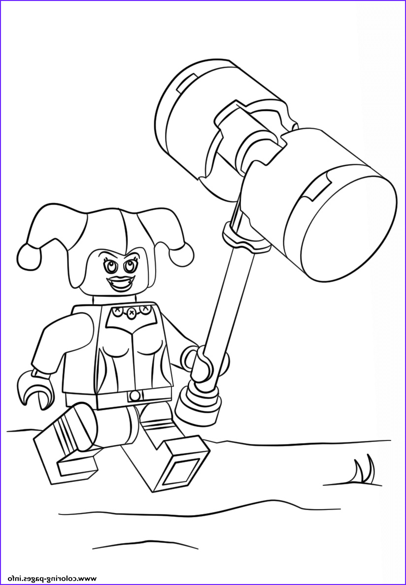 lego harley quinn printable coloring pages book