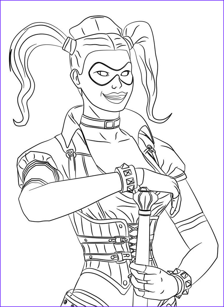 Harley Quinn Coloring Pages Printable Luxury Collection Pin On Colouring Pages