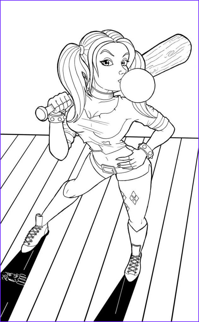 Harley Quinn Coloring Pages Printable New Gallery Harley Quinn Coloring Pages Coloring