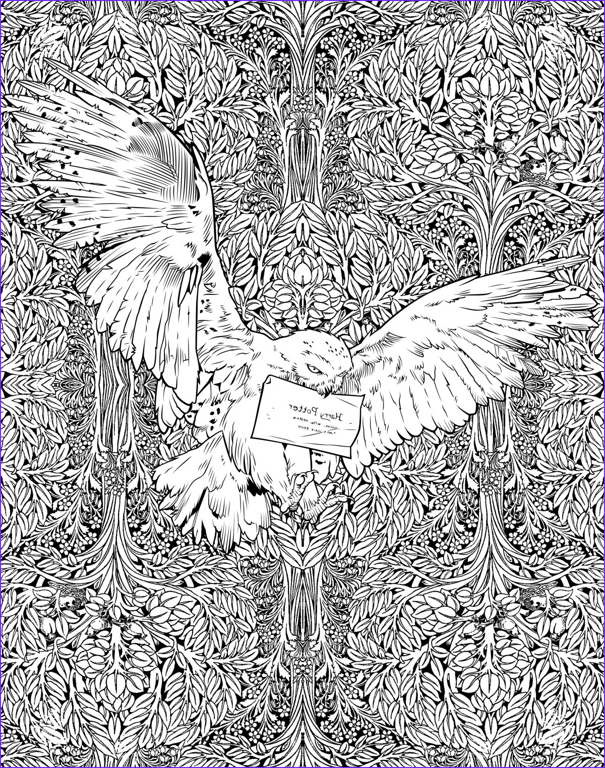 exclusive look at the harry potter colouring book out today