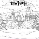 Harry Potter Coloring Awesome Images Harry Potter Hogwarts Castle In Winter Coloring Page