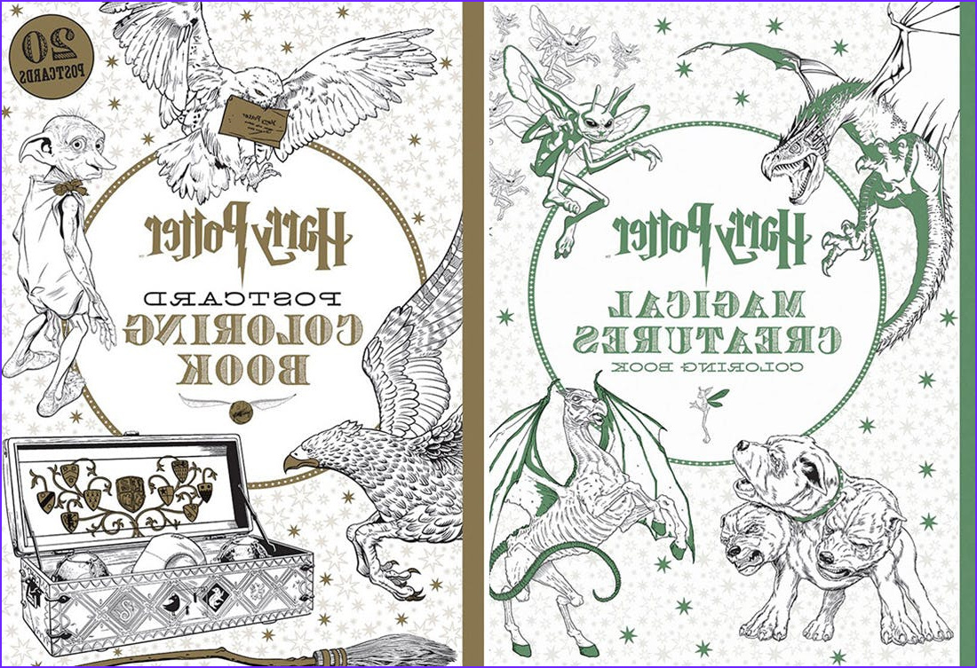 Harry Potter Coloring Books New Photos All the New Harry Potter Coloring Books You Need In Your