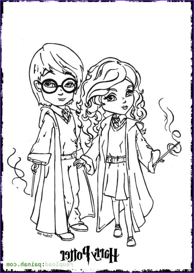 harry potter coloring pages printable free