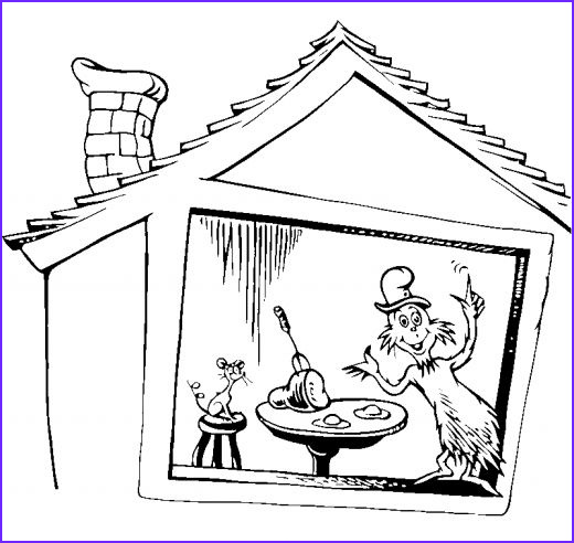 cat in hat coloring pages dr seuss