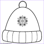 Hat Coloring Pages Best Of Gallery Winter Hat With Snowflakes Coloring Page Christmas