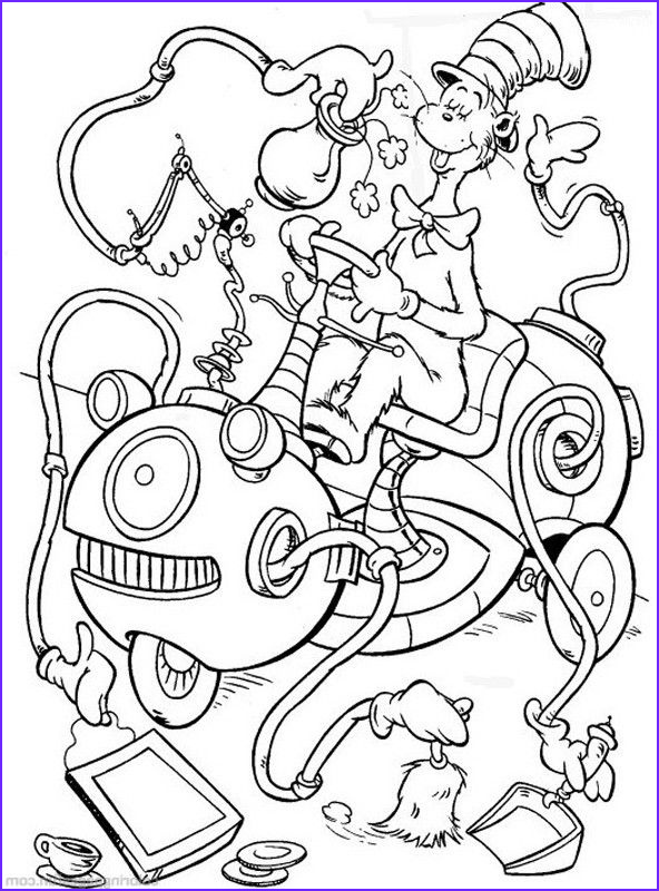 Hat Coloring Pages Cool Gallery Dr Seuss the Cat In the Hat Coloring Pages 27 Free