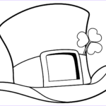 Hat Coloring Pages Cool Stock St Patrick Day Top Hat Coloring Page