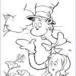 Hat Coloring Pages Luxury Images Cat In The Hat To Print Coloring Home