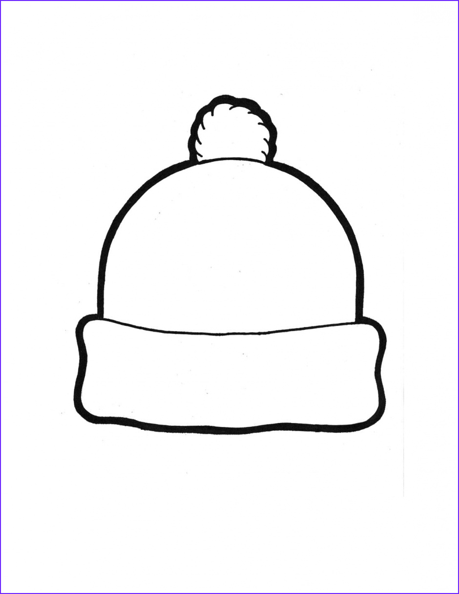 Hat Coloring Pages Luxury Photos Winter Hat Template Winter Hat Coloring Page