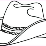 Hat Coloring Pages New Photography Cowboy Boot Coloring Page At Getcolorings
