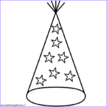 Hats Coloring Beautiful Stock Party Hat With Stars Coloring Page New Years