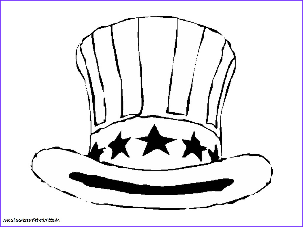 fourth of july hat coloring page