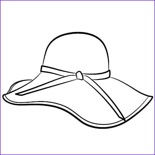 Hats Coloring Page Elegant Photos Floppy Hat Coloring Page Pattern