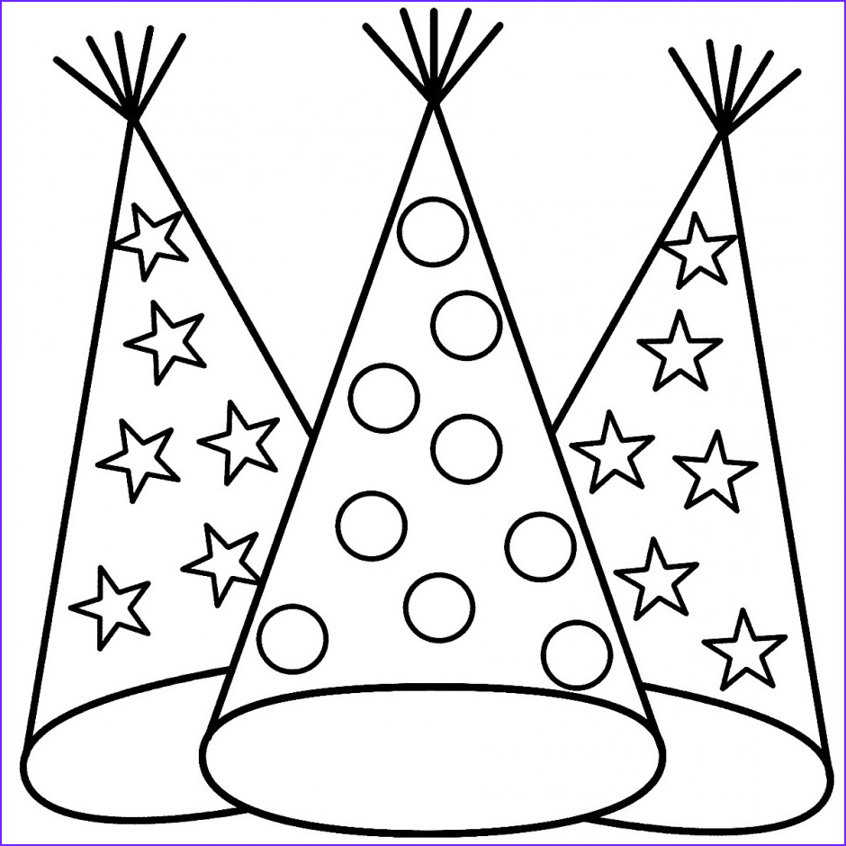 Hats Coloring Page Luxury Gallery Hat Coloring Pages Best Coloring Pages for Kids