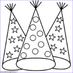 Hats Coloring Page Luxury Stock Party Hats Coloring Page New Years