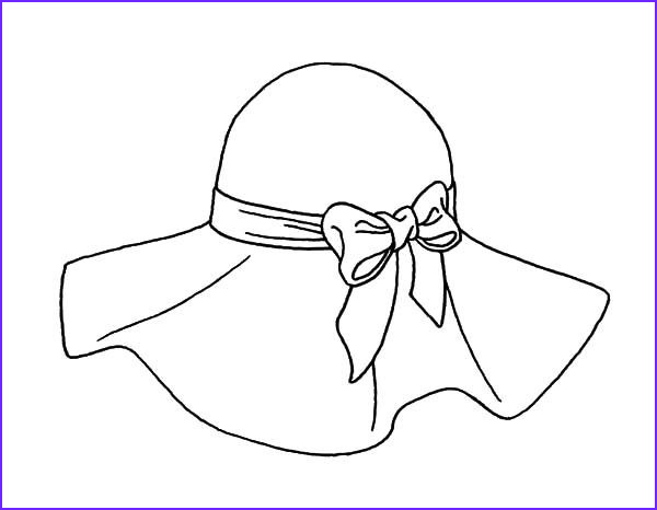 Hats Coloring Page Unique Collection 42 Best Painting Templates Hats Images On Pinterest