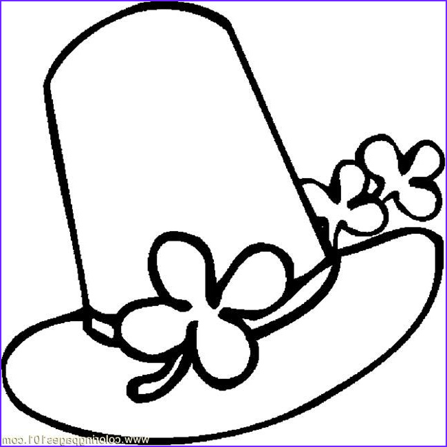 Hats Coloring Pages Awesome Photos St Patricks Day Hats Coloring Pages