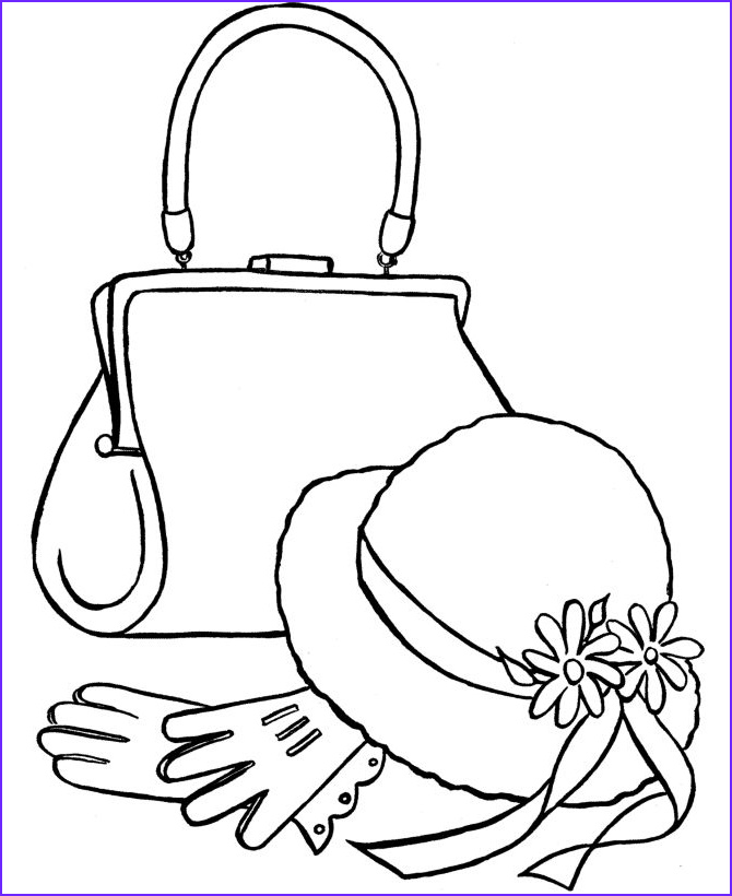 Hats Coloring Pages Cool Photos Purses to Color and Print