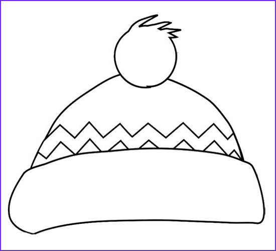 Hats Coloring Pages Cool Photos Winter Hat Coloring Page