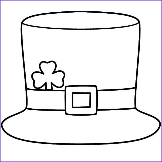 Hats Coloring Pages Cool Stock Leprechaun Hat Coloring Page St Patrick S Day