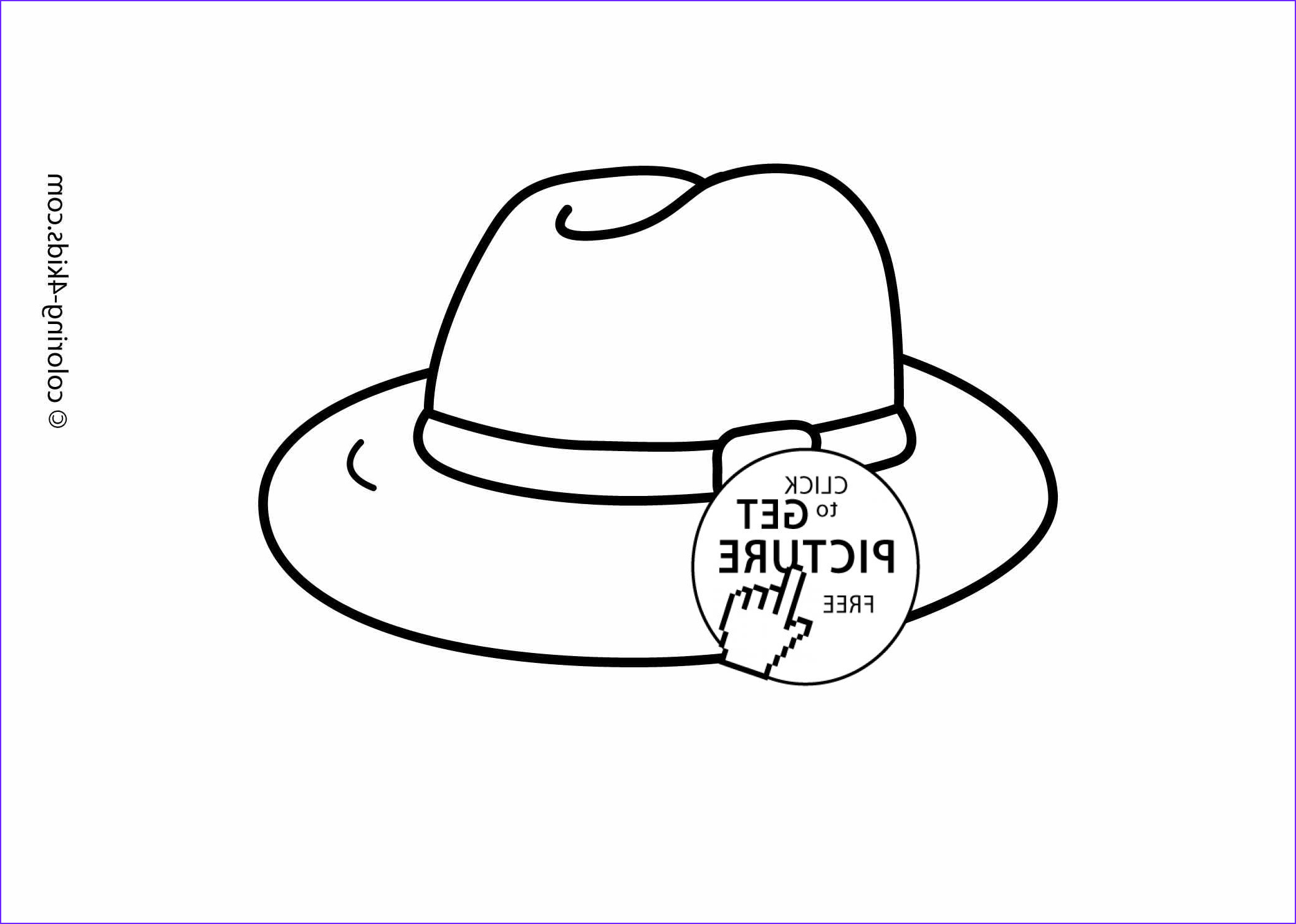 hat coloring pages printable