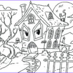 Haunted House Coloring Awesome Photography 25 Free Printable Haunted House Coloring Pages For Kids
