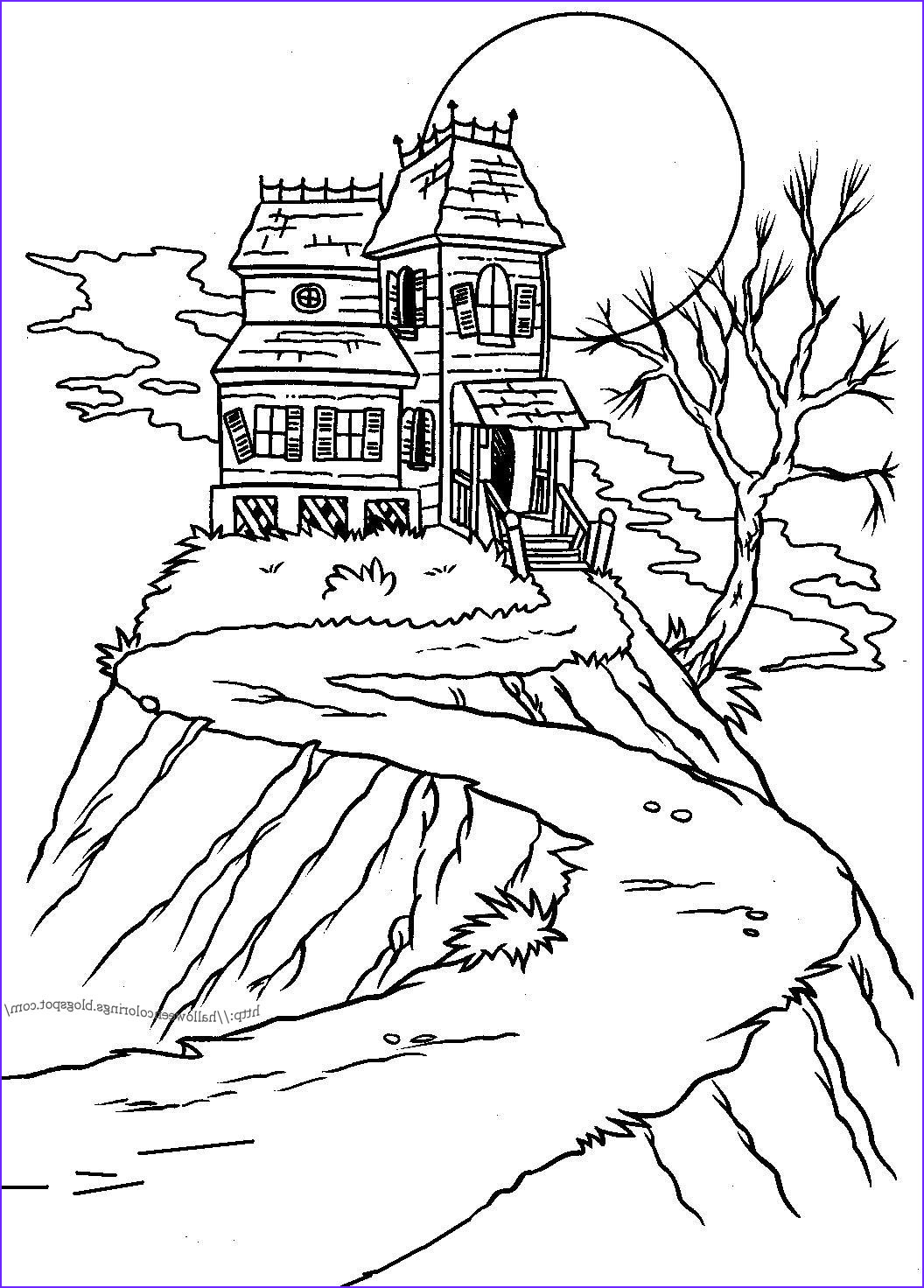 haunted mansions halloween colorings