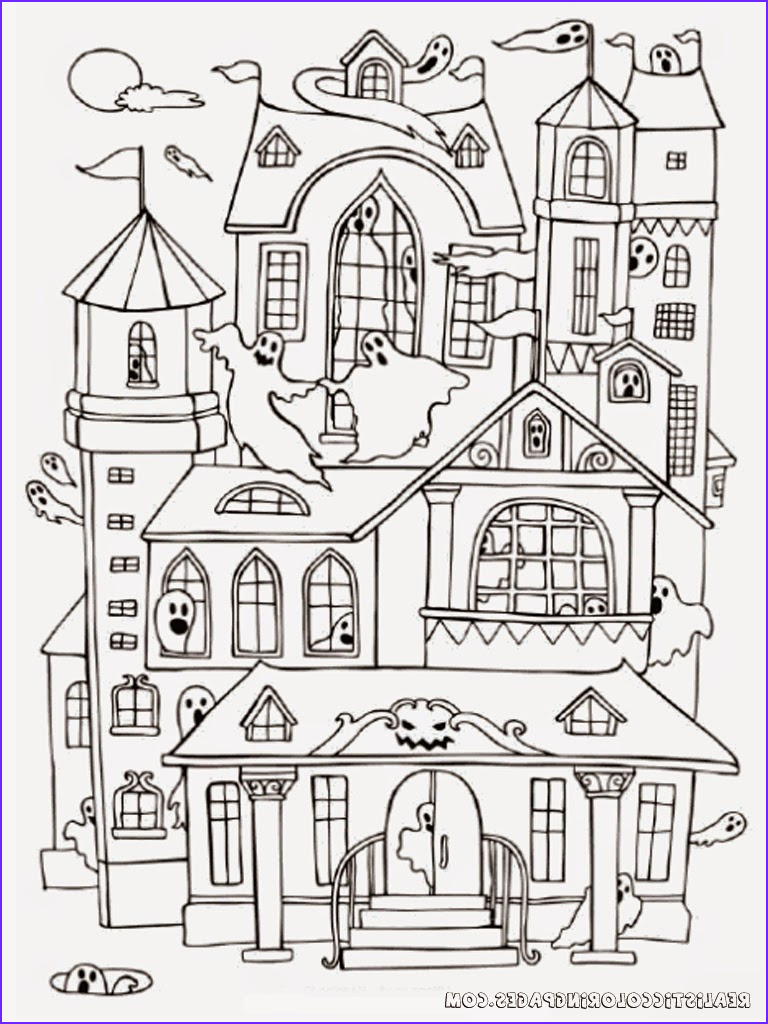 Haunted House Coloring Awesome Photos Halloween Haunted House Coloring Pages