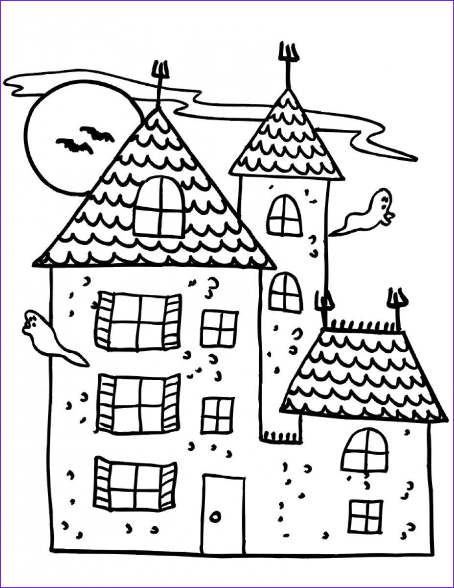 Haunted House Coloring Beautiful Photography Free Printable Haunted House Coloring Pages for Kids