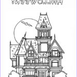 Haunted House Coloring Beautiful Photos Haunted House Coloring Pages Printable Free