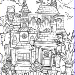 Haunted House Coloring Beautiful Photos Printable Haunted House Coloring Page