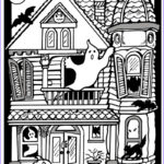 Haunted House Coloring Best Of Stock Printable Halloween Coloring Pages October 2011