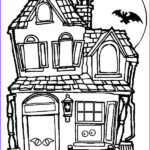 Haunted House Coloring Elegant Photos Haunted House Coloring Pages And Bat Free Printable
