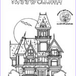 Haunted House Coloring Luxury Images Halloween