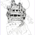 Haunted House Coloring Luxury Photos Haunted House Coloring Page