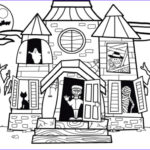 Haunted House Coloring New Image Houses For Kids Drawing At Getdrawings