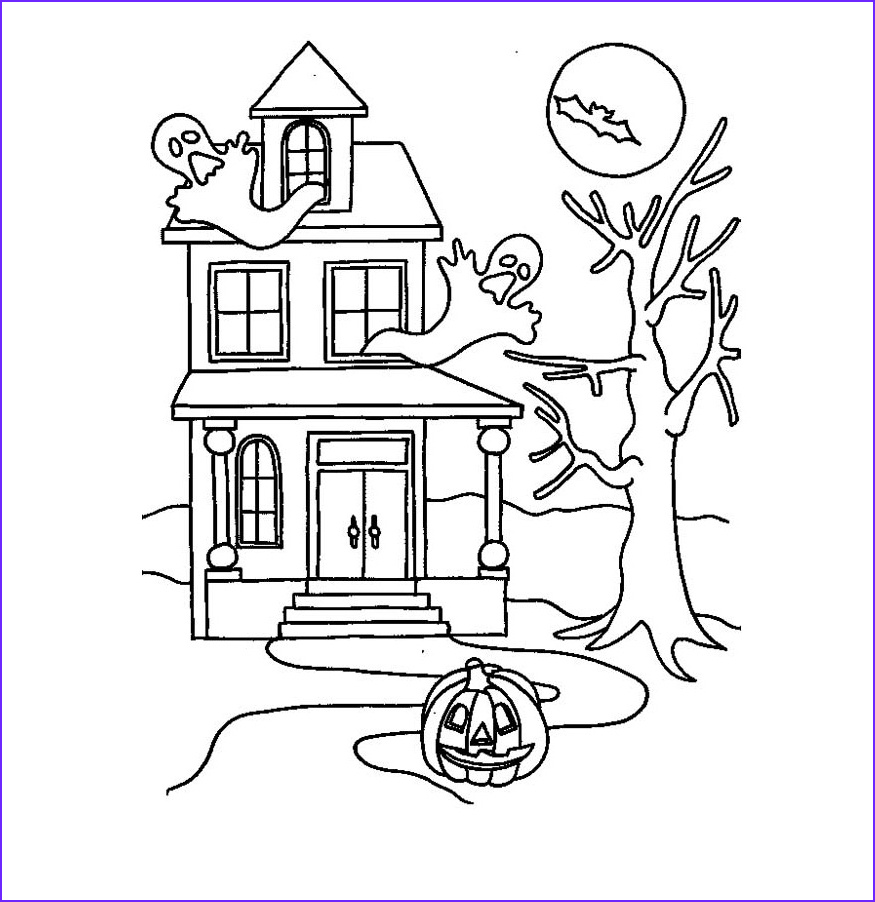 Haunted House Coloring New Photos Free Printable Haunted House Coloring Pages for Kids