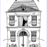 Haunted House Coloring New Photos Halloween Coloring Pages