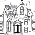 Haunted House Coloring New Stock Printable Haunted House Coloring Pages For Kids