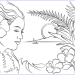 Hawaii Coloring Pages Unique Photos Beautiful Hawaii Coloring Page