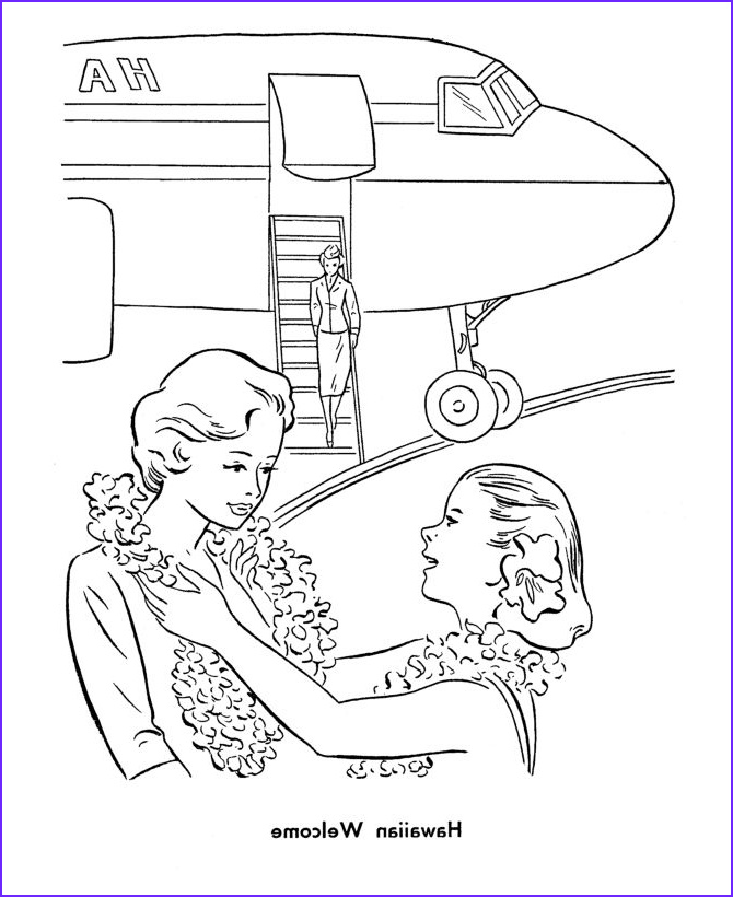 Hawaii Coloring Pages Unique Stock Hawaiian Airport Wel E