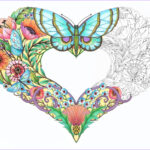 Heart Coloring Pages For Adults Awesome Collection Open Hearts Coloring Pages For Adults Set Of 10