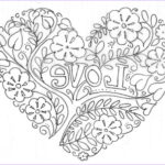 Heart Coloring Pages For Adults Beautiful Image Barbara Di Giovanni