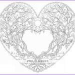 Heart Coloring Pages For Adults Best Of Photos Love Tree Heart An Adult Coloring Page In The Open Heart